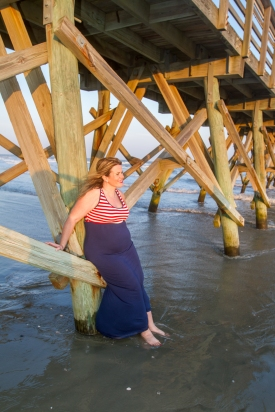 Maternity session in Cherry Grove Beach